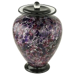 Cadence Hand Blown Glass Urn