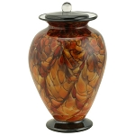 Brillante Hand Blown Glass Urn