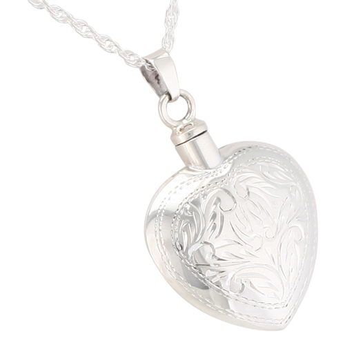 Etched heart cremation jewelry remembrance necklaces pendants etched heart cremation jewelry remembrance necklaces pendants for ashes mozeypictures Choice Image