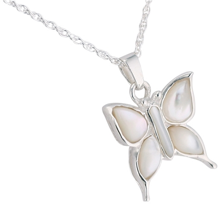 Butterfly mother of pearl cremation jewelry remembrance necklaces butterfly mother of pearl cremation jewelry aloadofball Choice Image