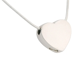 Small Slider Heart Cremation Jewelry
