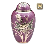 Rose Brass Urn in Pink - LoveUrns