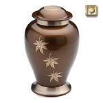 Tribute Falling Leaves Brass Urn - LoveUrns