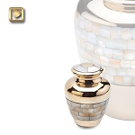 Mother of Pearl Keepsake Urn - LoveUrns