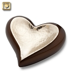 Heart Hammered Gold Bronze Keepsake Urn - LoveUrns