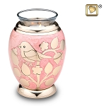 Gold Blessing Birds Tealight Urn - LoveUrns