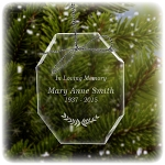 Traditions Memorial Ornament - Free Engraving
