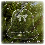 Holiday Bell Memorial Ornament