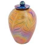 Lumos Gold Hand Blown Glass Urn