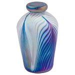 Lumos Blue Hand Blown Glass Keepsake Urn