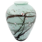 Blossom Hand Blown Glass Urn