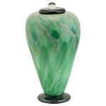 Harmony Hand Blown Glass Cremation Urn
