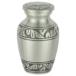 Classic Laurel Pewter Keepsake Urn