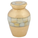 Mother of Pearl Wide Band Keepsake Urn