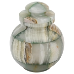 Mosaic Green Onyx Urn - Extra Small