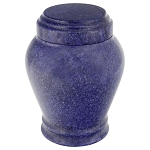 Cobalt Marble Urn - Extra Small