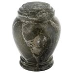 Empire Green Marble Urn - Extra Small