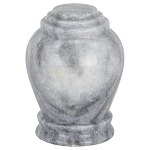 Wave Gray Marble Urn - Extra Small