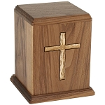 Cross Urn in Walnut