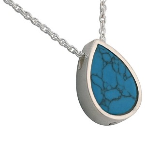 Turquoise teardrop slider cremation jewelry remembrance turquoise teardrop slider cremation jewelry mozeypictures Images