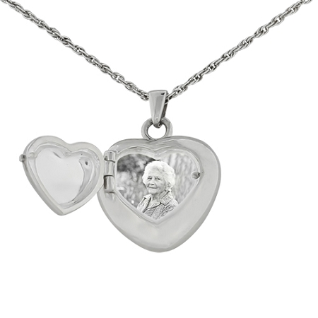 double heart locket cremation jewelry remembrance. Black Bedroom Furniture Sets. Home Design Ideas