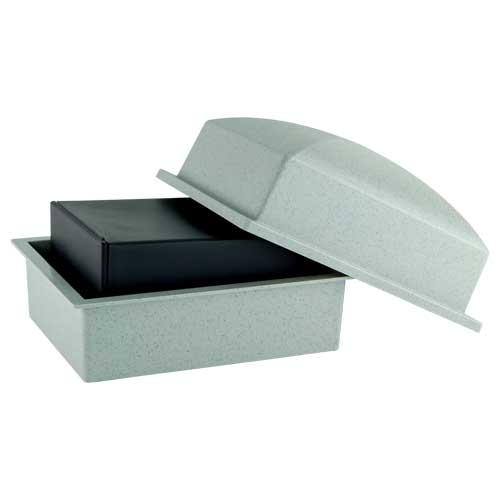Basic Urn Vault for Box or Temporary Container of Ashes - Gray