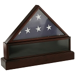 Flag Case, Display Case & Urn - Cherry