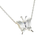 Butterfly Silver Cremation Jewelry
