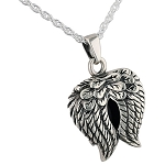 Angel Wings Silver Heart Cremation Jewelry