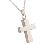Curved Cross Cremation Jewelry
