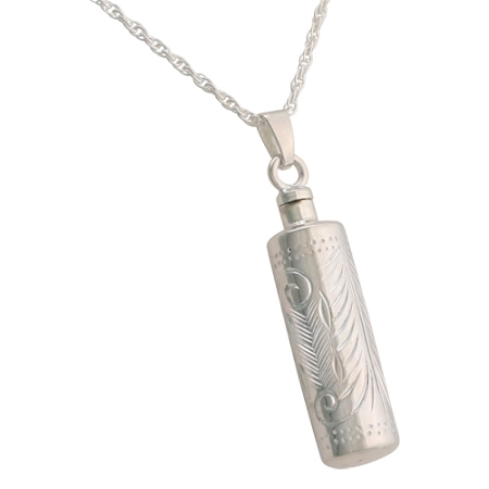 Etched cylinder cremation jewelry remembrance necklaces pendants etched cylinder cremation jewelry aloadofball Choice Image