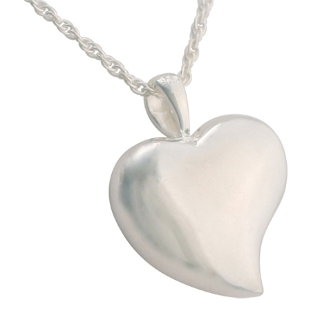 Heart Mother Of Pearl Cremation Jewelry Remembrance