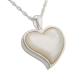 Heart Mother of Pearl Cremation Jewelry
