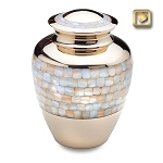 Mother of Pearl Brass Urn - LoveUrns
