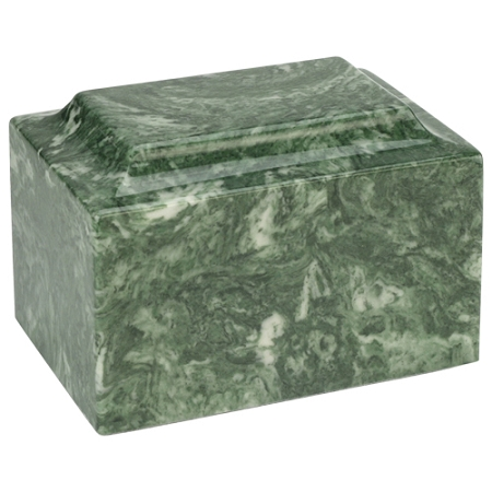 Emerald Classic Cultured Marble Urn Stone Cremation Urns
