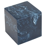 Navy Cultured Marble Extra Small Urn