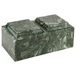 Emerald Cultured Marble Urn for Two