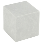 White Cultured Marble Extra Small Urn