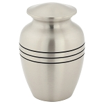 Three Bands Pewter Brass Urn Extra Small