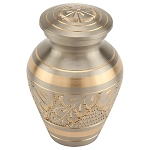Platinum Elite Brass Keepsake Urn