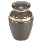 Dignity Gray Brass Keepsake Urn
