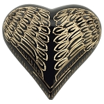 Angel Wings Black & Gold Keepsake Urn