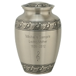 Feather Band Brass Urn - XL