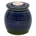 Meridian Ceramic Tealight Urn - Bay Blue