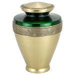 Atlas Brass Urn - Green/Gold