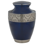 Regent Brass Urn Navy Blue