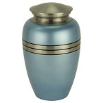 Blue Satin Brass Urn