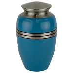 Blue Gloss Cremation Urn