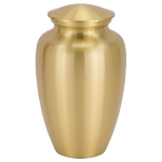Simple Brass Cremation Urn - Gold