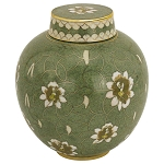 Pear Blossom Cloisonne Extra Small Urn